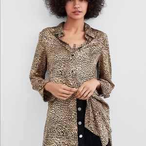 Zara Relaxed Fit Leopard Blouse